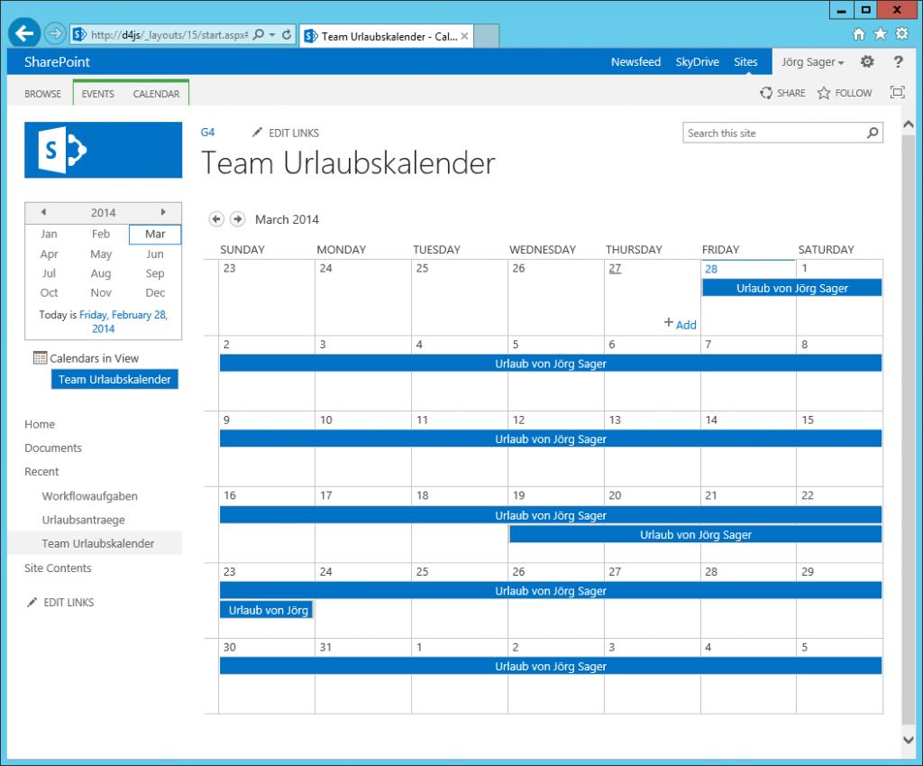 SharePoint_Liste_Kalender