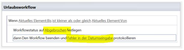 SharePoint Workflow beenden