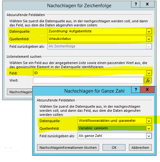 SharePoint Variable befüllen