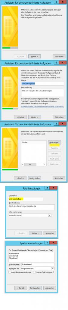 Benutzerdefinierte Aufgaben in SharePoint Workflow