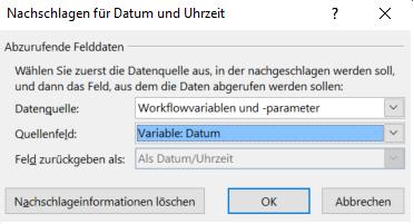 Gate4 - Nachschlagen Dialog SharePoint Designer