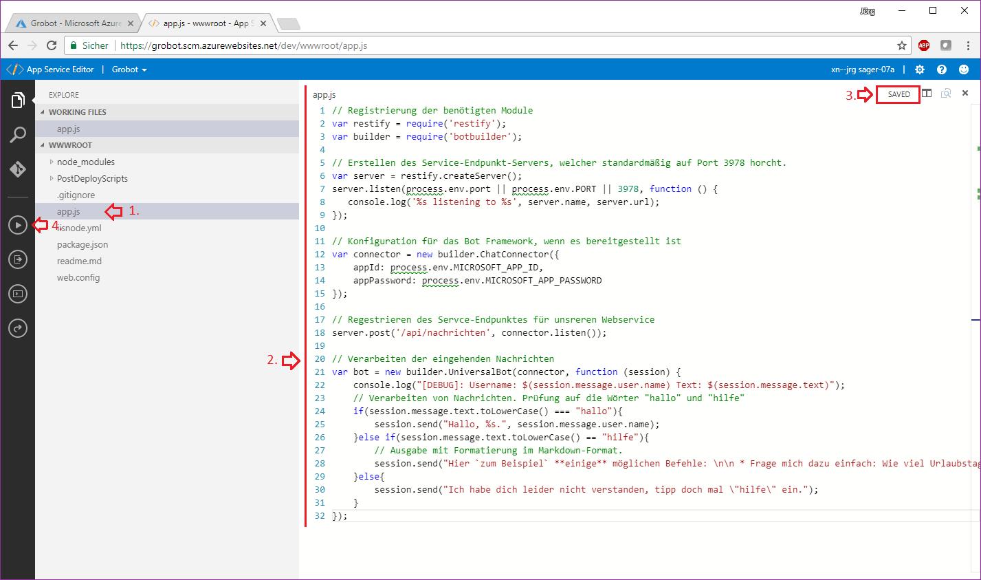 Azure Code Editor